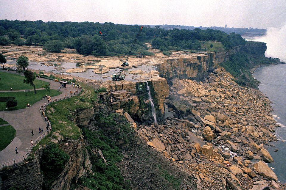 Niagarafälle, trocken, 1969