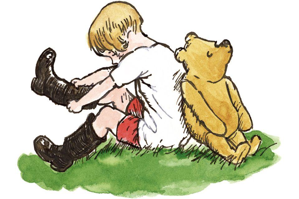 Christopher Robin und Pu Bär