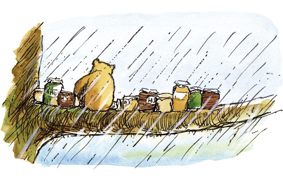 Pu der Bär mit Honigtöpfen