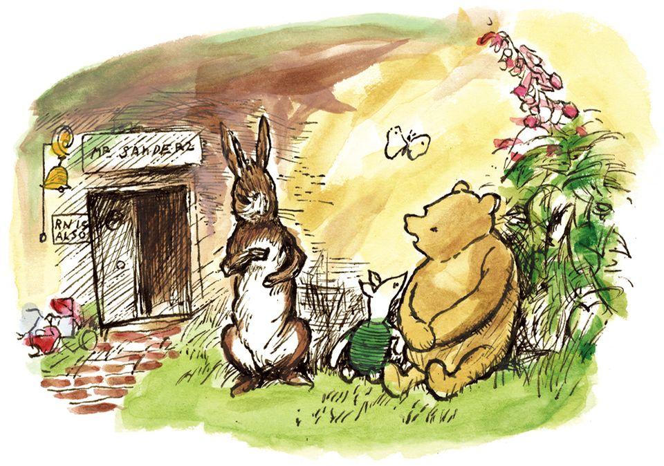 Kaninchen und Pu Bär