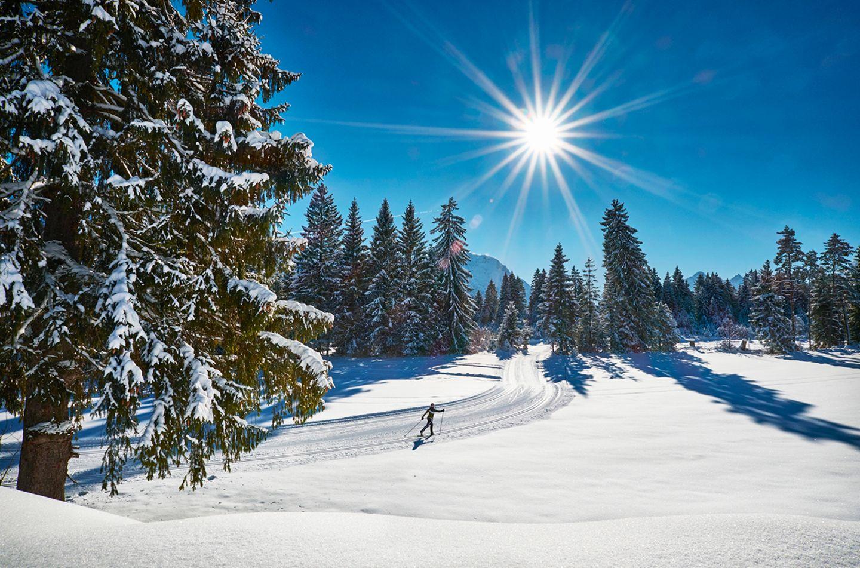 Langlaufen, Wallgau, Oberbayern