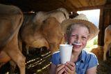 Milch vom Bauernhof