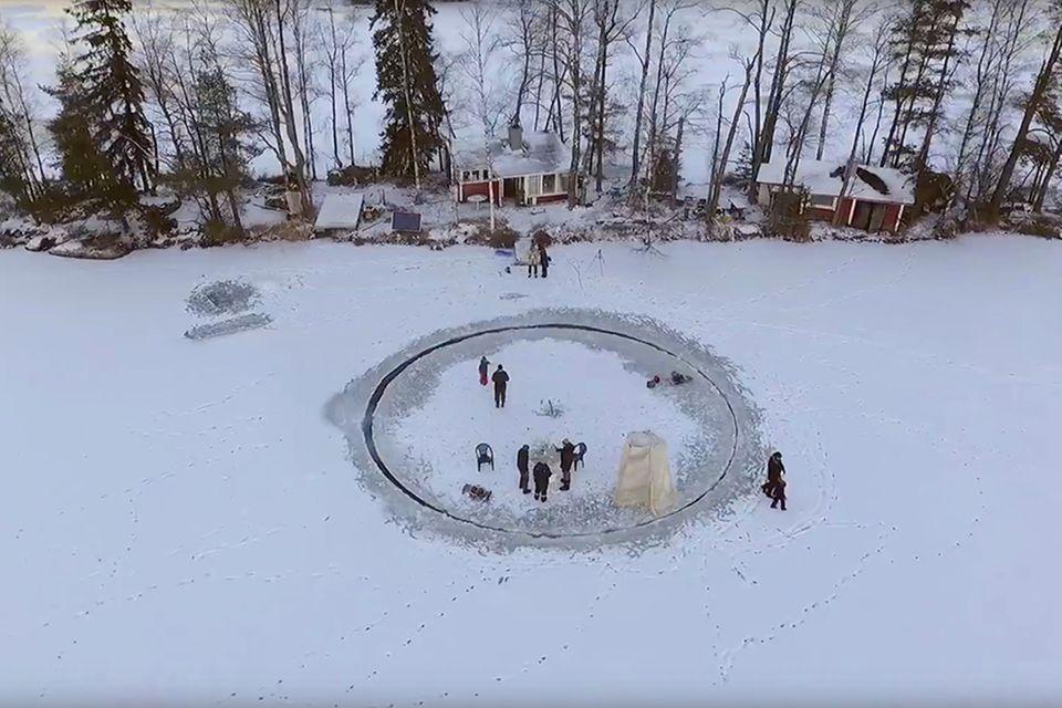 Eiskarussell auf Finnisch