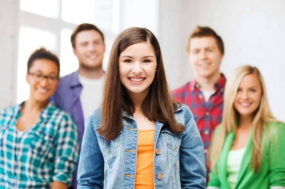 Schülergruppe beim Schüleraustausch