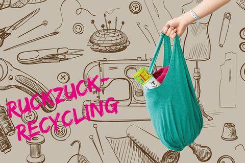 Upcycling: Einkaufstasche aus einem T-Shirt nähen
