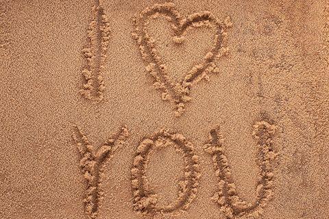 Ich liebe dich im Sand