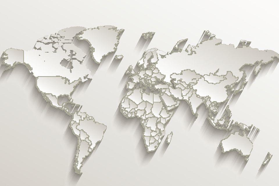 Konturen Weltkarte