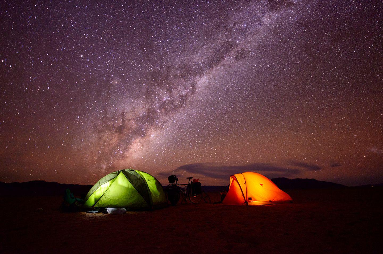 Zelten in Namibia