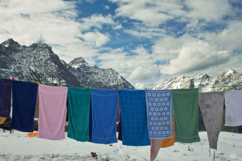 Wäsche im Winter trocknen