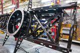 Gerüstbau des Feuerwehrautos