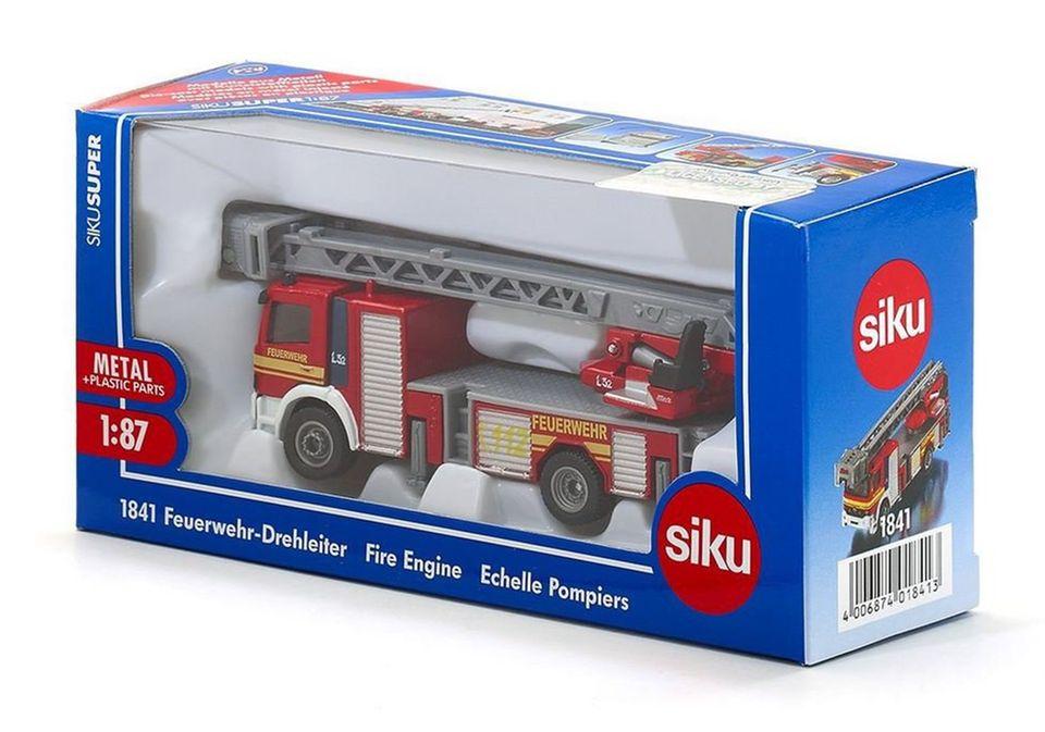 SIKU Feuerwehr-Drehleiter in Verpackung