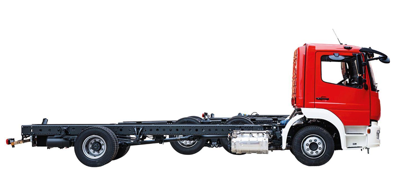 Fahrgestell eines Feuerwehrautos