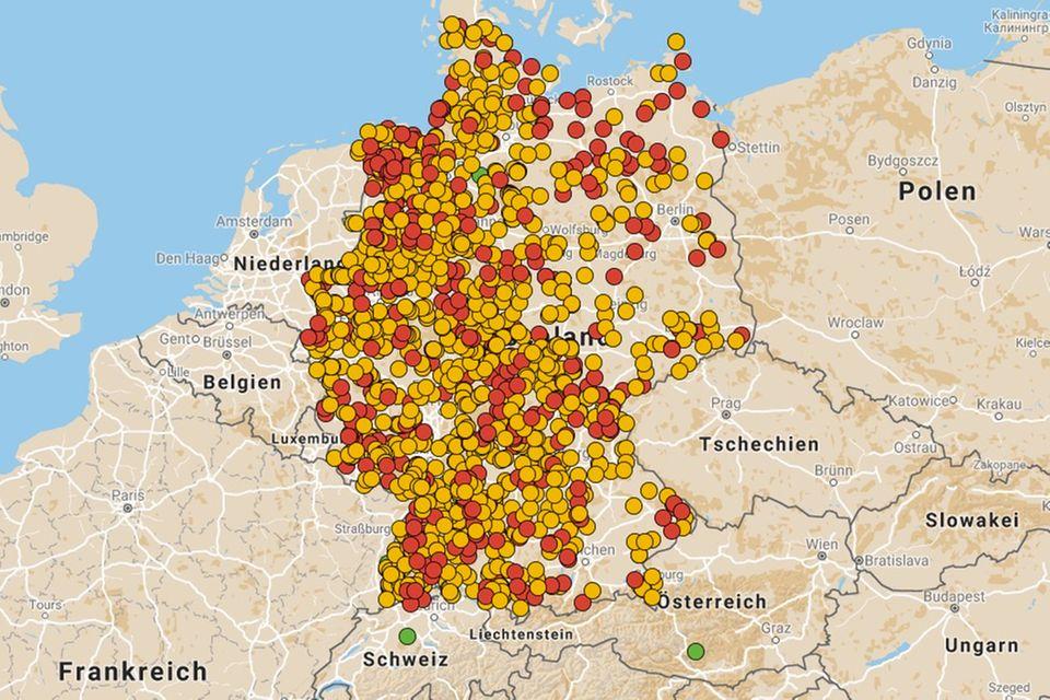 Stellplatzkarte Deutschlnd