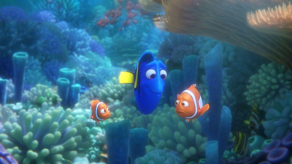 Dorie mit Nemo und seinem Vater