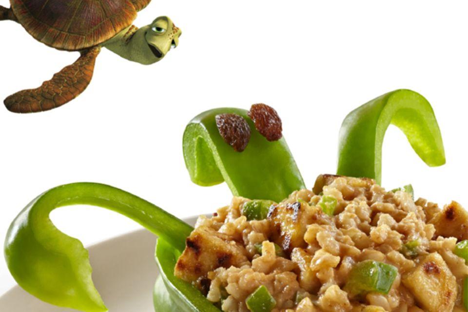 Gefüllte Paprika-Schildkröte