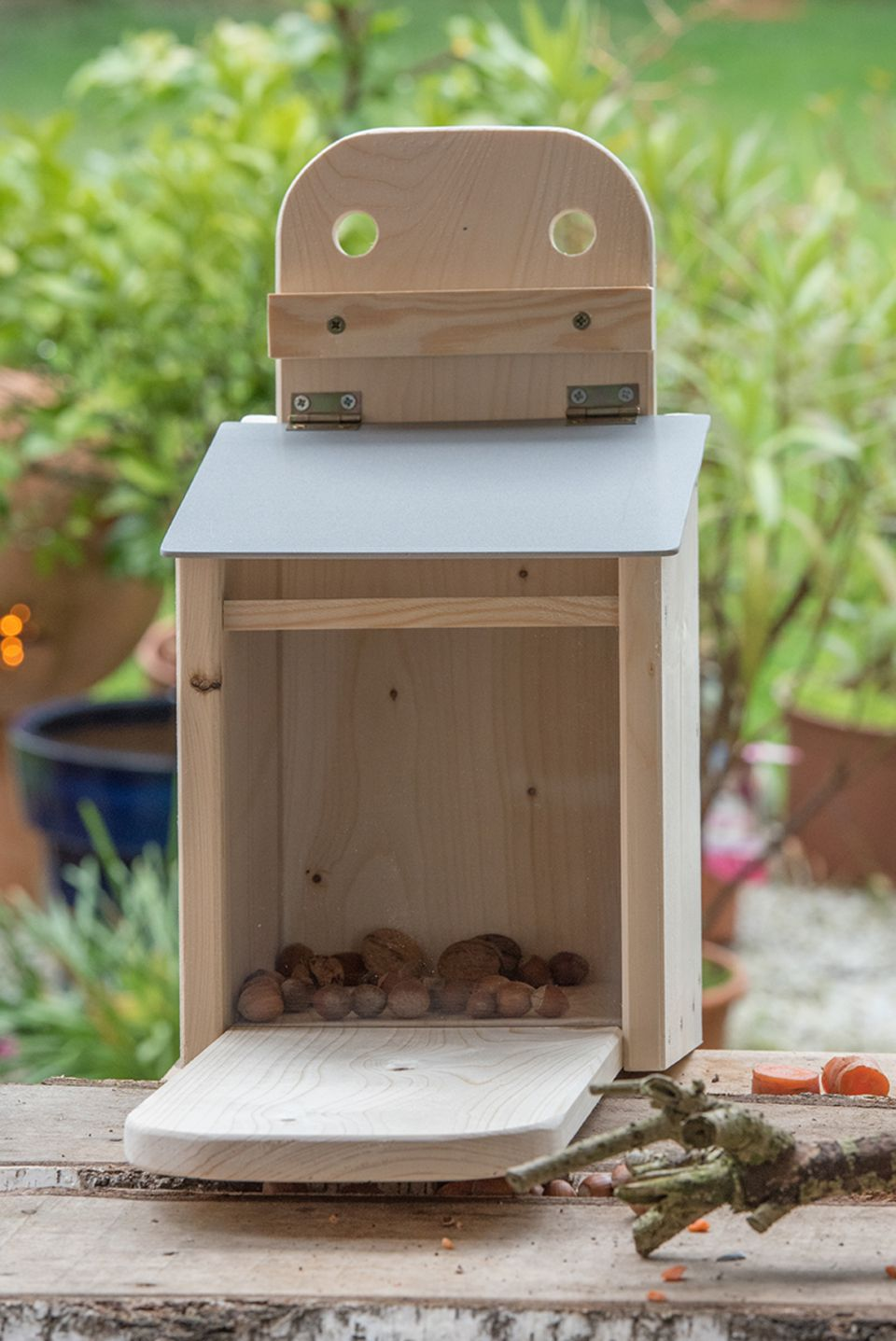 Futterkasten für Eichhörnchen