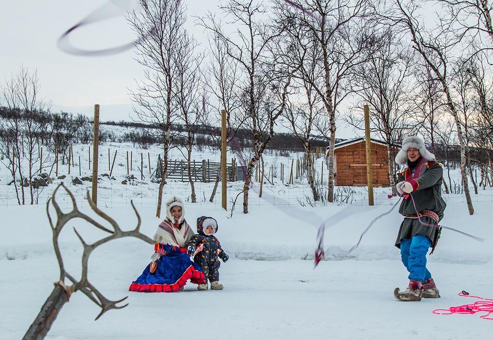 Rentierfarm Finnland