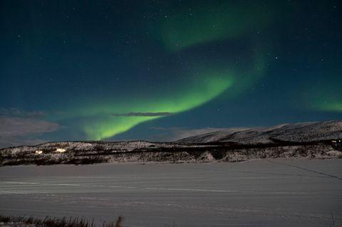 Finnland: Zwischen September und April lassen sich die Polarlichter auch in Nuorgam beobachten