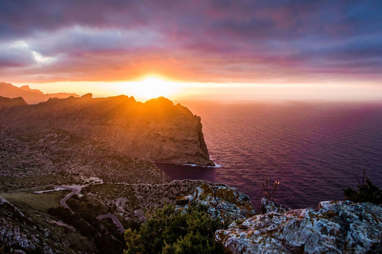 Sonnenuntergang im Norden von Mallorca
