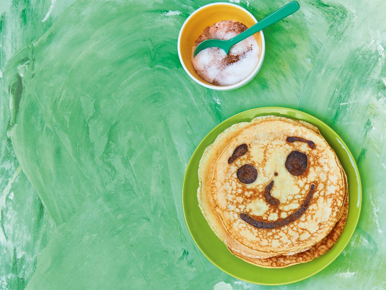 Grinsender Pfannkuchen, Pancake Art
