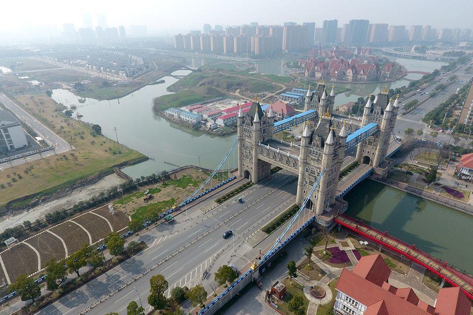 London Tower Bridge In Suzhou, China