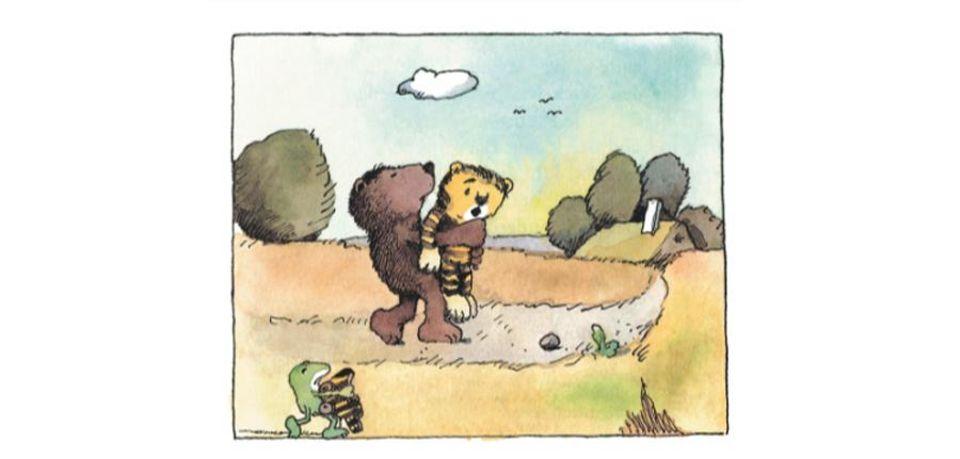 Janosch Bär trägt Tier