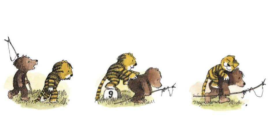 Bär trägt Tiger