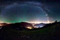 Wipptal mit Milchstraße