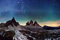 Sternbild Orion über den Drei Zinnen
