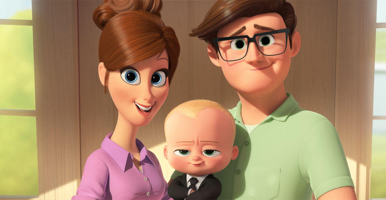 Boss Baby mit Eltern