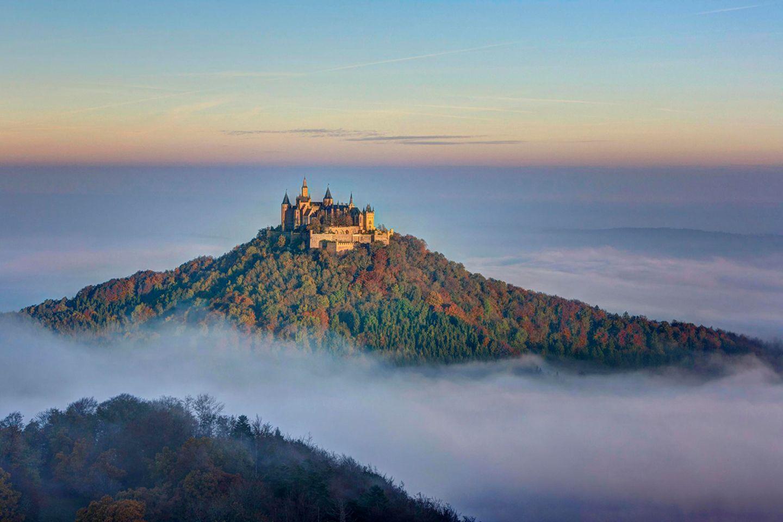 usblick vom Zeller Horn auf Burg Hohenzollern