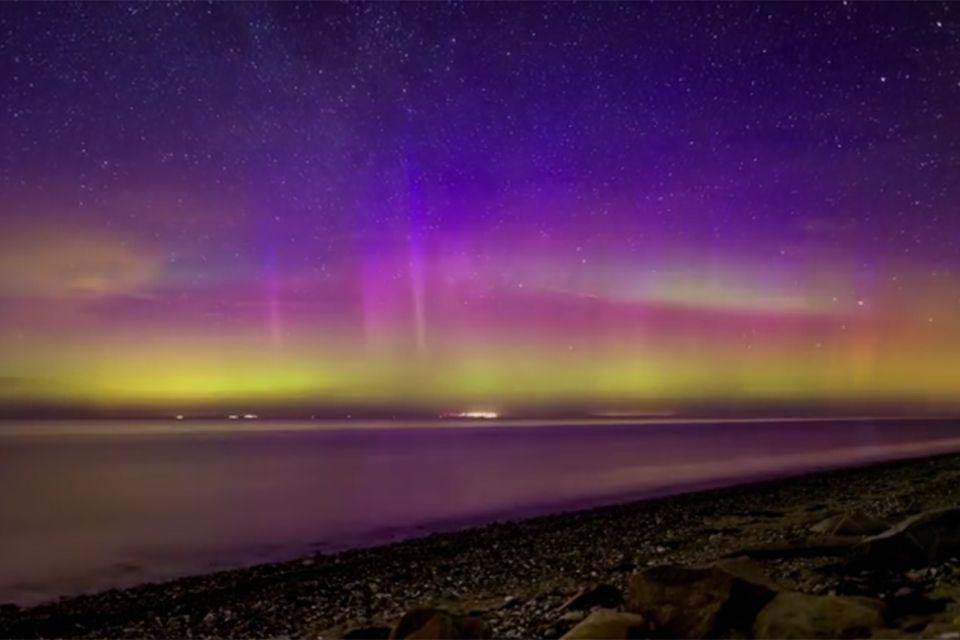 Polarlichter über Fehmarn