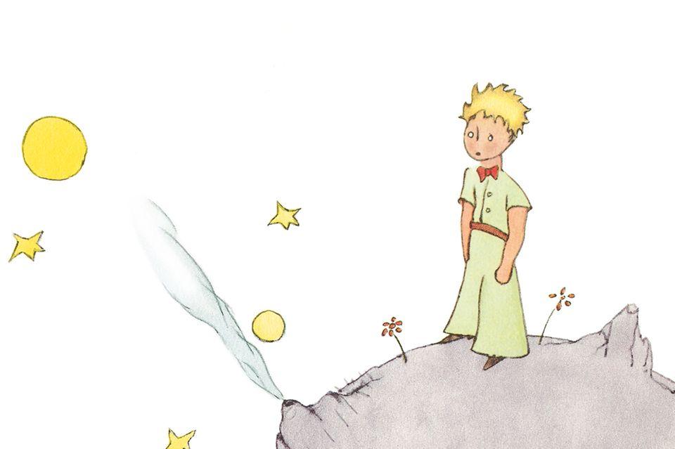 Der kleine Prinz auf dem Mond