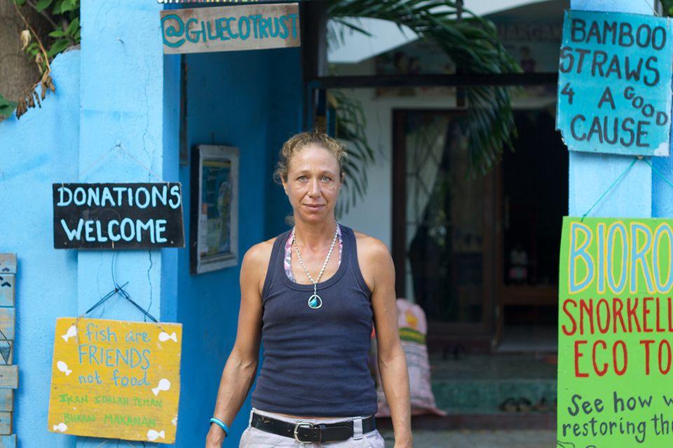 Delphine Robbe auf den Gili Islands