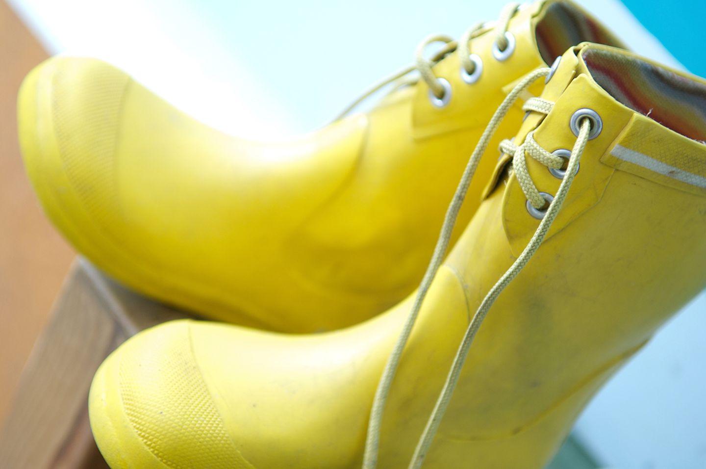 Gelbe Gummistiefel