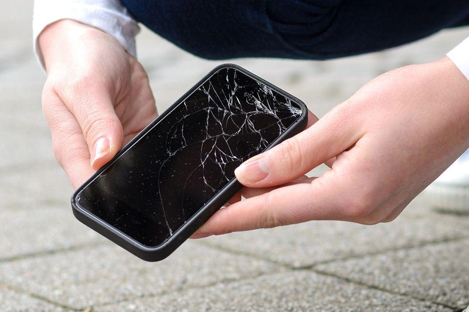 Beschädigtes Smartphone