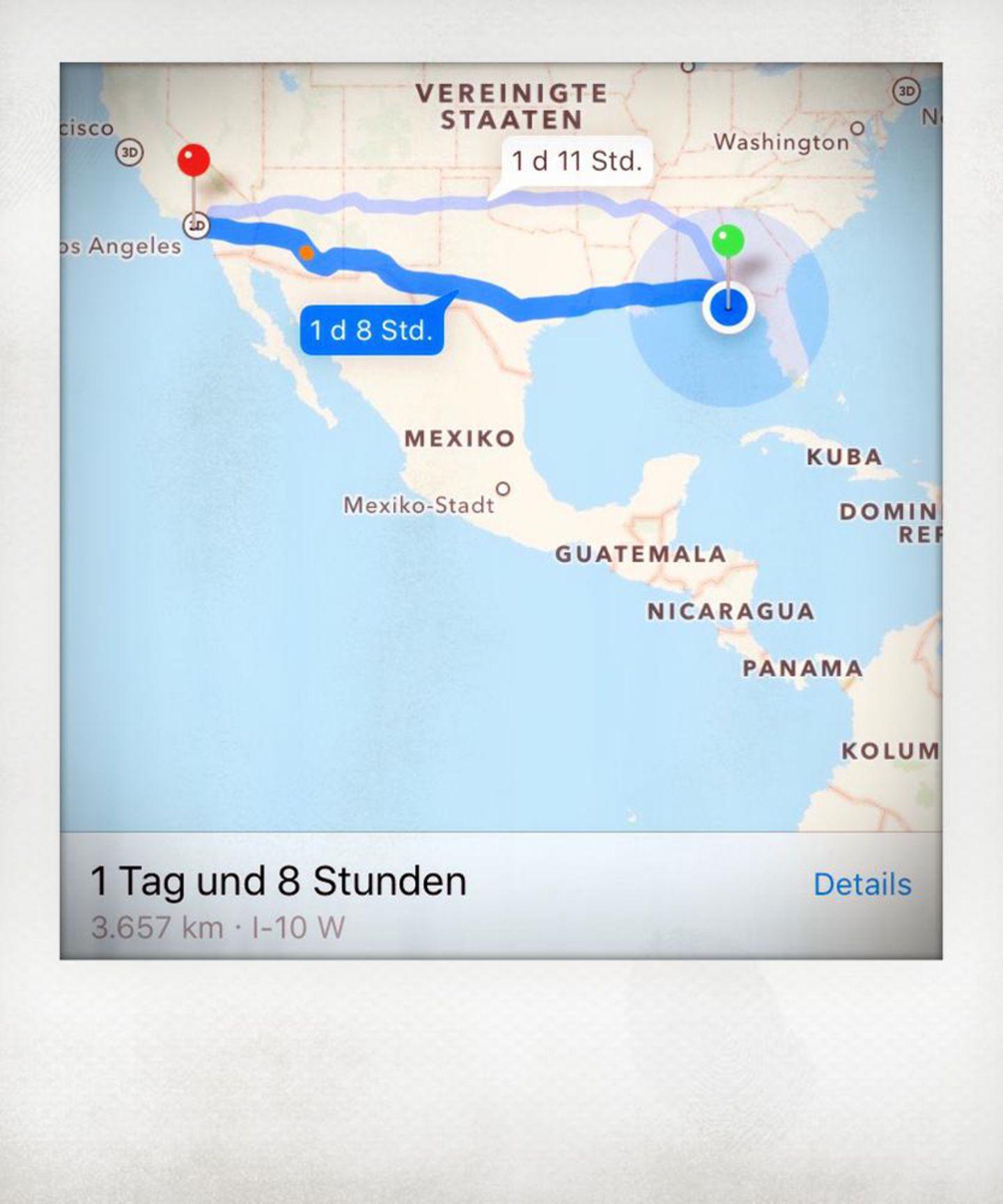 Screenshot, Google Maps, Vereinigte Staaten