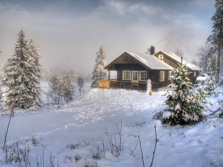 Winterlandschaft wie bei Prinzessin Elsa