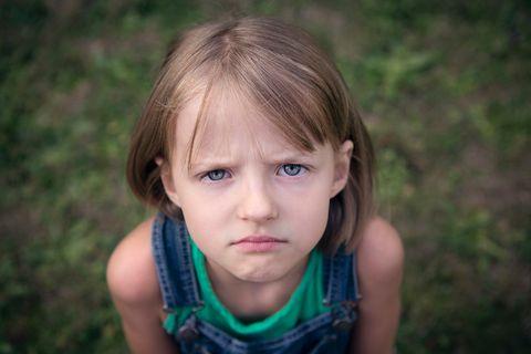 beleidigtes Kind