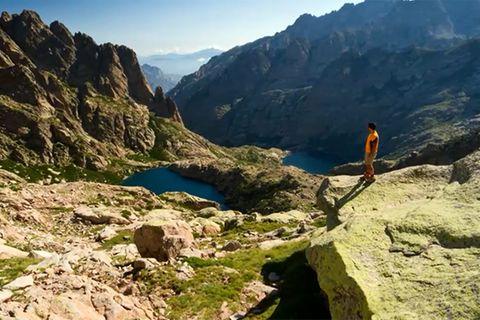 Wanderer auf dem GR20 auf Korsika