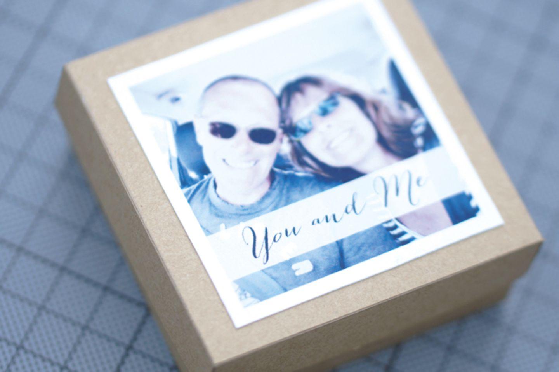 Foto Box aus Pappe