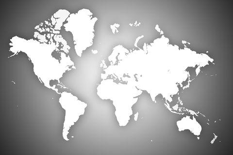 Weltkarte in grau weiß