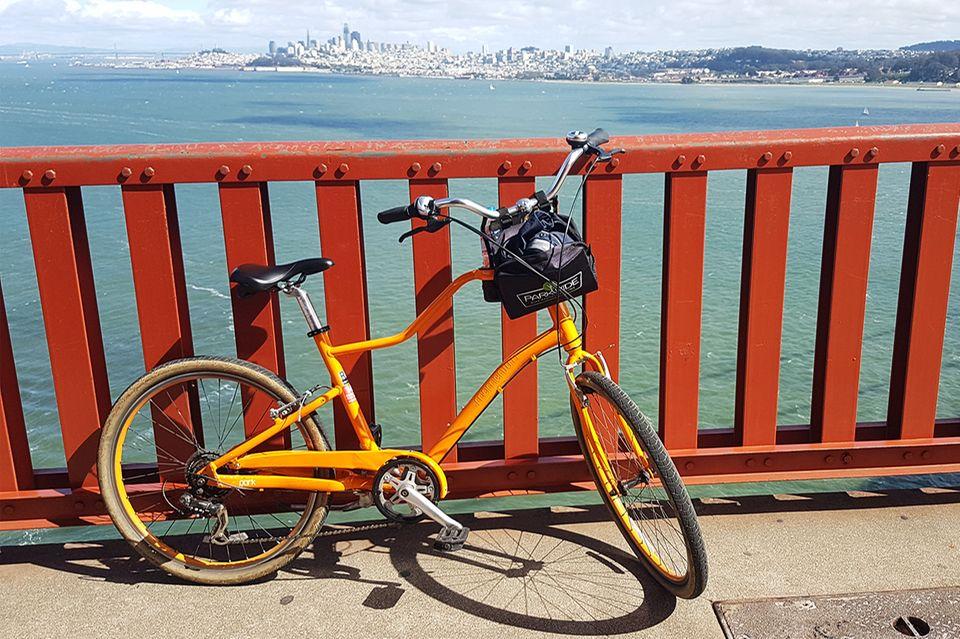 Fahrrad auf der Golden Gate Bridge