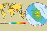 Erdbeben in Norcia Karte