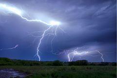 Gewitter einschlag stelle