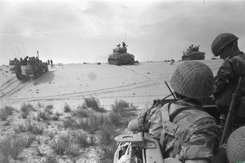 Israelische Einheiten im Sechstagekrieg 1967