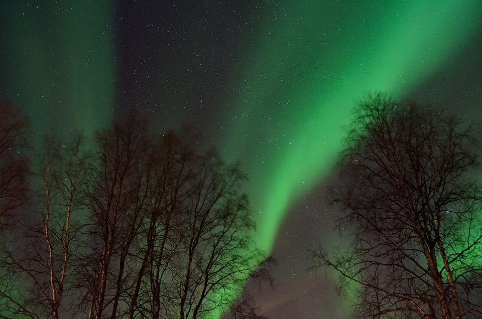 Polarlichter am Himmel über Norwegen
