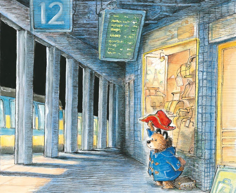 Paddington Bär am Bahnhof