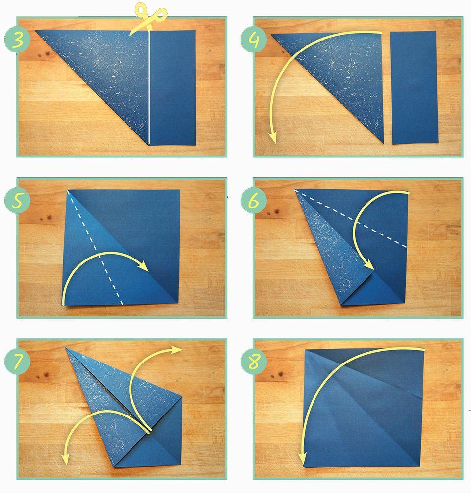 Walhai falten, Origami