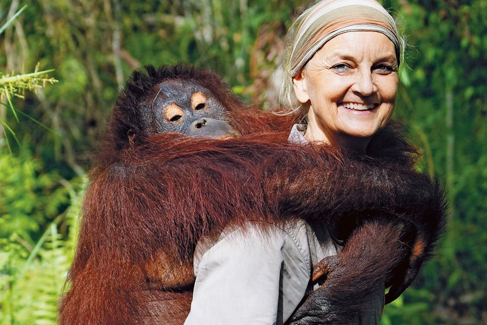 Dr. Signe Preuschoft in Borneo